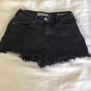 Black distressed pac sun shorts